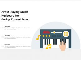 Artist Playing Music Keyboard For During Concert Icon