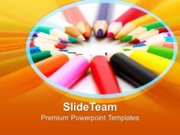 Artistic Pencils Education PowerPoint Templates PPT Themes And Graphics 0213