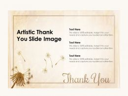 Artistic Thank You Slide Image