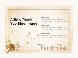 Artistic Thank You Slide Image