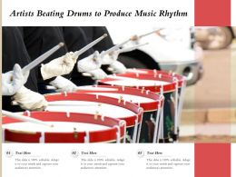 Artists Beating Drums To Produce Music Rhythm