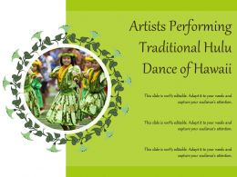 Artists Performing Traditional Hulu Dance Of Hawaii
