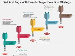 as_dart_and_tags_with_boards_target_selection_strategy_flat_powerpoint_design_Slide01