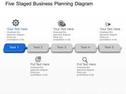 As Five Staged Business Planning Diagram Powerpoint Template Slide