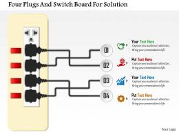 As Four Plugs And Switch Board For Solution Powerpoint Templets