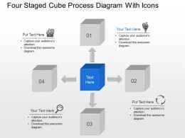 As Four Staged Cube Process Diagram With Icons Powerpoint Template
