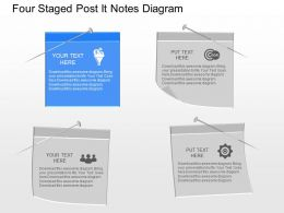 as Four Staged Post It Notes Diagram Powerpoint Template