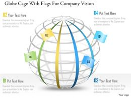 As Globe Cage With Flags For Company Vision Powerpoint Template
