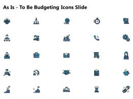 As Is To Be Budgeting Icons Slide L1271 Ppt Powerpoint Presentation Icon