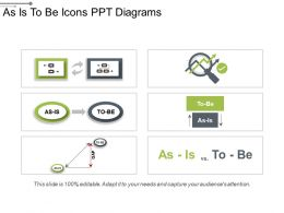 As Is To Be Icons Ppt Diagrams