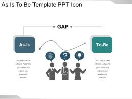 As Is To Be Template Ppt Icon