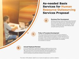 As Needed Basis Services For Human Resource Outsourcing Services Proposal Ppt Powerpoint Presentation Slides