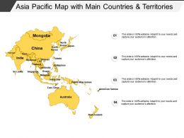 Asia Pacific Map With Main Countries And Territories