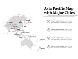 Asia Pacific Map With Major Cities