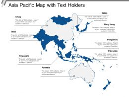 Asia Pacific Map With Text Holders