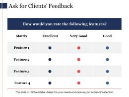 Ask For Clients Feedback Ppt Powerpoint Presentation Diagram Ppt