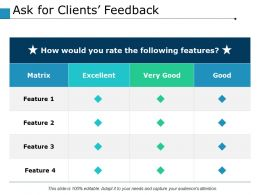 Ask For Clients Feedback Ppt Powerpoint Presentation File Infographic Template