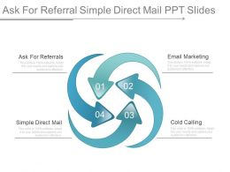 Ask For Referral Simple Direct Mail Ppt Slides