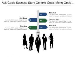 Ask Goals Success Story Generic Goals Menu Goals