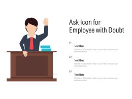 Ask Icon For Employee With Doubt