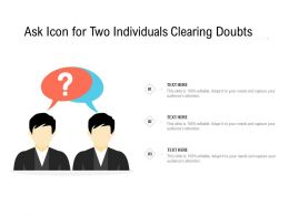 Ask Icon For Two Individuals Clearing Doubts