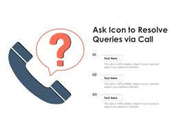 Ask Icon To Resolve Queries Via Call