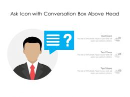 Ask Icon With Conversation Box Above Head