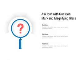 Ask Icon With Question Mark And Magnifying Glass