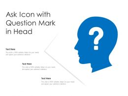 Ask Icon With Question Mark In Head