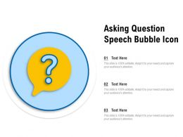 Asking Question Speech Bubble Icon