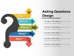 Asking Questions Design Sample Of Ppt