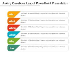 Asking Questions Layout Powerpoint Presentation