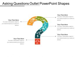 Asking Questions Outlet Powerpoint Shapes