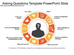 Asking Questions Template PowerPoint Slide