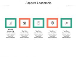 Aspects Leadership Ppt Powerpoint Presentation Infographic Template Skills Cpb