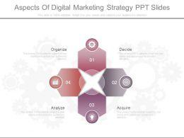 Aspects Of Digital Marketing Strategy Ppt Slides