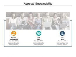 Aspects Sustainability Ppt Powerpoint Presentation Ideas Model Cpb