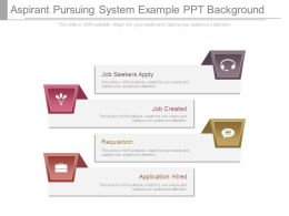 Aspirant Pursuing System Example Ppt Background