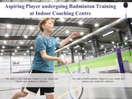 Aspiring Player Undergoing Badminton Training At Indoor Coaching Centre