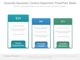 Assemble Necessary Conduct Experiment Powerpoint Slides