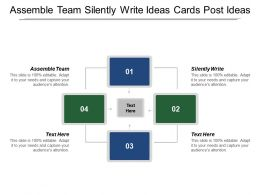 Assemble Team Silently Write Ideas Cards Post Ideas