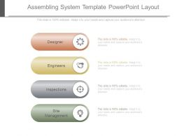 Assembling System Template Powerpoint Layout