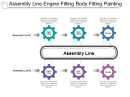 Assembly Line Engine Fitting Body Fitting Painting