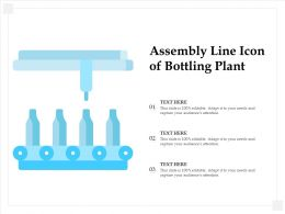 Assembly Line Icon Of Bottling Plant