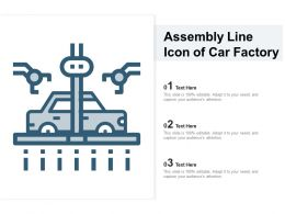 Assembly Line Icon Of Car Factory