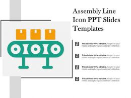 Assembly Line Icon Ppt Slides Templates