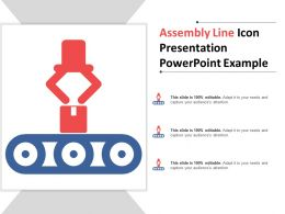 Assembly Line Icon Presentation Powerpoint Example