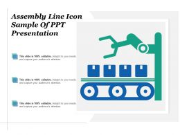 Assembly Line Icon Sample Of Ppt Presentation