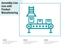 Assembly Line Icon With Product Manufacturing