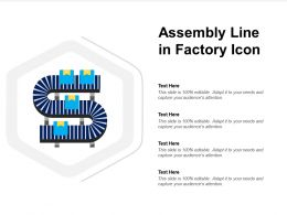 Assembly Line In Factory Icon